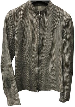Isaac Sellam Grey Exotic leathers Jacket for Women