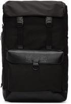 Kokon To Zai Black Leather Flap Backpack