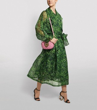 Dolce & Gabbana Sheer Clover Trench Coat