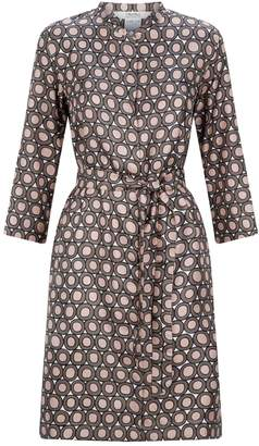 Max Mara Circle Pattern Silk Tunic