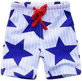 NYCMIRABELLE Boys Shorts Star Print Summer Kids Beach Shorts Knee Length (,Blue)