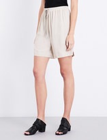 Rick Owens Dropped-crotch crepe-georgette shorts
