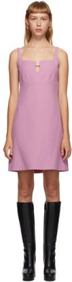 Gucci Pink Silk and Wool Cady Crepe Dress