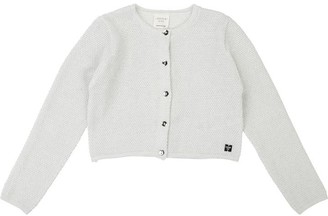 Carrément Beau Girls White Knitted Short Cardigan