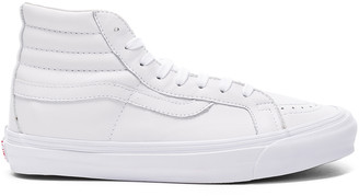 Vans Leather OG SK8-HI LX in White | FWRD