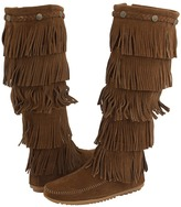 Minnetonka 5-Layer Fringe Boot Women's Zip Boots