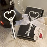 Fashioncraft Heart Accented Key Bottle Opener Favor (Set Of 50) - Wedding Party Favors