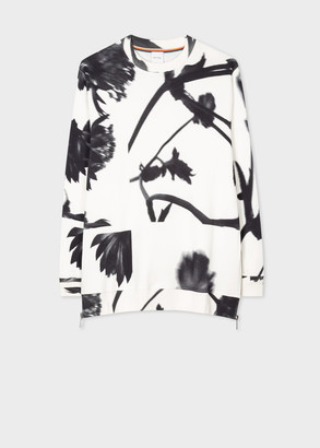 Paul Smith Women's Cream 'Screen Floral' Print Relaxed Sweatshirt