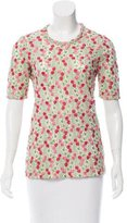 Jill Stuart Embroidered FLoral Top