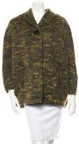 Carven Bouclé Cocoon Coat