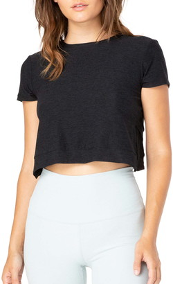 Beyond Yoga Back Out Crop Tee
