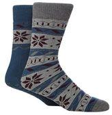 Totes Pack Of Two Assorted Fair Isle-inspired Print Slipper Socks