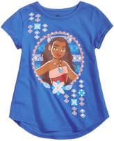 Disney Disney's® Moana-Print Cotton T-Shirt, Toddler & Little Girls (2T-6X)