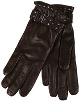 Restelli Nappa Leather Gloves With Studs