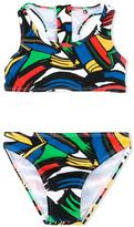 Stella McCartney paint strokes print Koko bikini