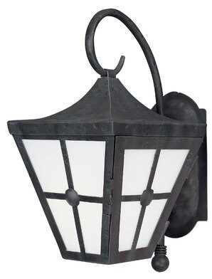 "Longshore Tides Thomes Outdoor Wall Lantern Size: 17""H x 8.5"" W x 11.25"" D"
