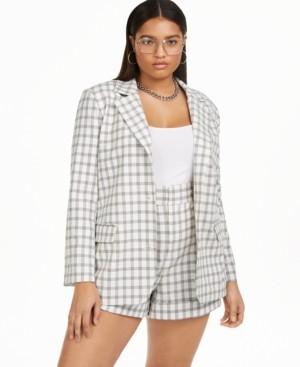 Danielle Bernstein Plus Size Structured Blazer, Created for Macy's
