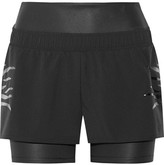 adidas by Stella McCartney Layered Climalite Shell And Stretch Shorts - Black