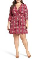 Leota Plus Size Women's Perfect Faux Wrap Jersey Dress