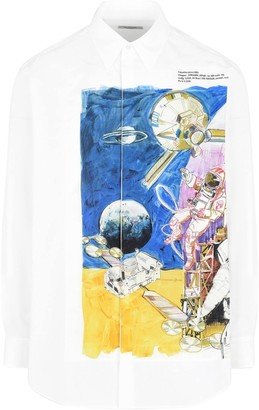 Valentino Space Print Buttoned Shirt Multicolor