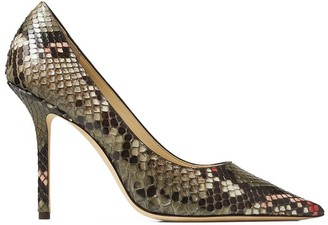Jimmy Choo Love 100 Python Leather Pumps