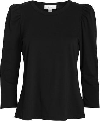 A.L.C. Karli Puff Sleeve Cotton T-Shirt