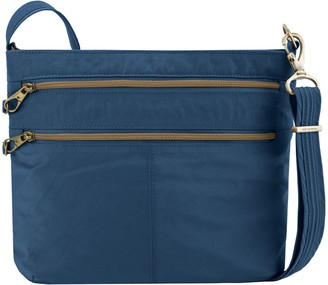 Travelon Anti-Theft Signature Double-Zip Crossbody Bag
