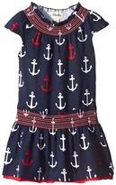 Hatley Anchor Smocked Dress (Toddler/Little Kids/Big Kids)
