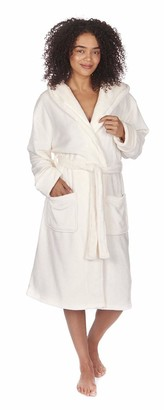 Forever Dreaming Ladies Soft Fleece Hooded Dressing Gown Cream 3XL