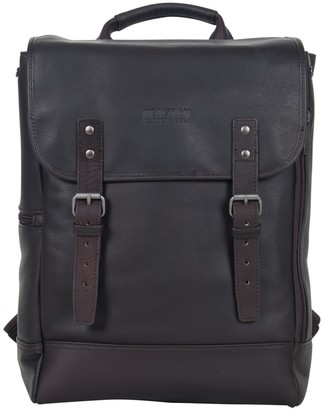 "Kenneth Cole Reaction Colombian Leather Single Compartment 15.0"" Computer Travel Backpack"