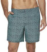 Marc Anthony Men's Slim-Fit Mini-Leaf Swim Shorts