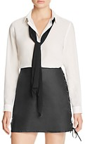 French Connection Polly Tie-Neck Blouse - 100% Bloomingdale's Exclusive