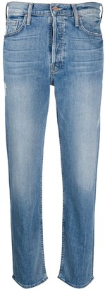 Mother High-Rise Straight Leg Jeans
