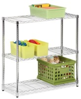 "Honey-Can-Do Storage Shelf, 48"" Chrome 3 Tier"