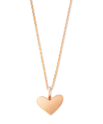 Kendra Scott Ari Heart Charm Necklace In Sterling Silver