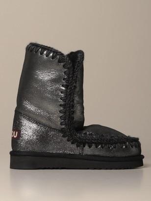 Mou Eskimo 24 Limited Edition Sneakers Boot In Glitter Sheepskin