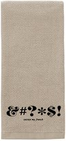 Kate Spade Expletive Kitchen Towel - Flaxseed