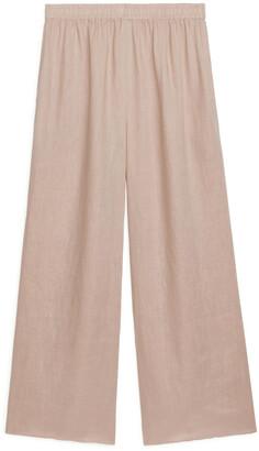 Arket Wide Linen Trousers