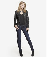 Express Dark Low Rise Skinny Jean