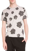 Kenzo Allover Tiger-Print Short-Sleeve T-Shirt, Light Gray