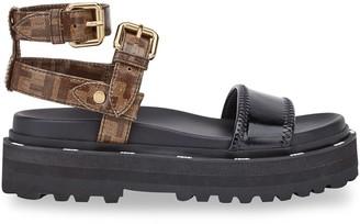 Fendi glazed FF motif sandals