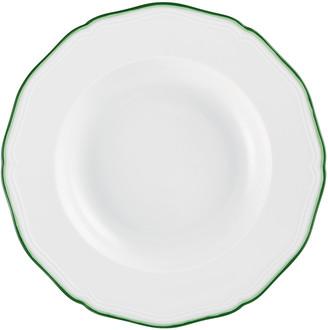 Raynaud Touraine Double Filet Green Rim Plate