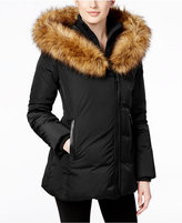 MICHAEL Michael Kors Faux-Fur-Trim Asymmetrical Down Coat