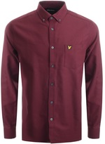 Lyle & Scott Long Sleeve Oxford Shirt Burgundy