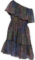 Chloé Firework Off-the-shoulder Printed Cotton-blend Mini Dress