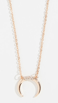 Stella + Ruby Reverse Crescent Necklace