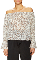Lucca Couture Printed Off Shoulder Top