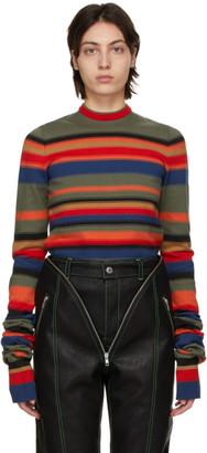 Y/Project Multicolor Retro Rainbow Maxi Sleeve Sweater