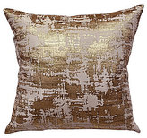 The Art of Home from Ann Gish Scratch Metallic Crosshatched Jacquard Square Pillow