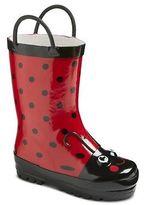 Toddler Girls' Ladybug Rain Boots - Red